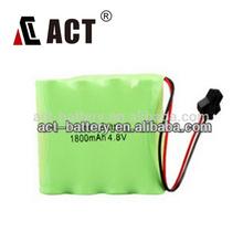 Battery Packs 4.8V NiMH/4.8V Rechargable Battery/AA Rechargeable Battery 4.8V 1800mAh