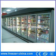 3 Door Stainless Steel Ice Cold Commercia Refrigerator Cooler , Multi Door Restaurant and Supermarket Freezer Showcase