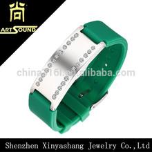 Seven colors cheap custom bracelet silicone