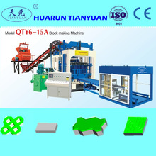 Long working service!! QT6-15 Sawdust block making machine,Hollow brick machine,Manual block machine for sale