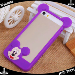 2014 Newest Cute Cartoon Design Silicone Bumper Rim Case For iPhone 5