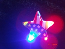 led flashing national flag pin led flashing custom pvc star shaped badge