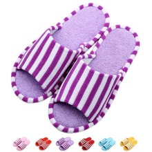 Colorful fancy coral fleece indoor slipper for girls