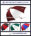 Mejor dos colores de la tela de utilidad paraguas de golf, vip ideas de regalo