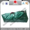 Woven Polyethylene strong green christmas tree storage bag