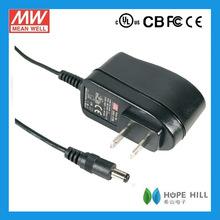 Meanwell 6W GS06U-4P1J,Meanwell Single Output AC DC adapter 15V 0.4A