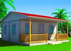 built-up frame flat roof beautiful cheap prefab camp house