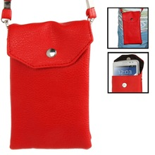 Litchi Texture 2-layer Leather Case / Carry Bag / Pocket Pouch Sleeve Bag with Neck Strap for Samsung Galaxy S IV / i9500
