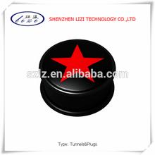 Fashion red star UV acrylic cheap ear plug