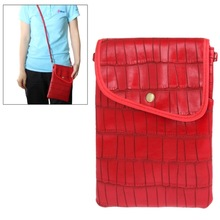 Universal Lady Dual-use Bag Style Crocodile Texture Leather Case Pocket Sleeve Bag for Samsung Galaxy Tab 3 / P3200 / T3100