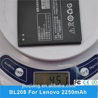 Original 2250mAh BL208 Battery for Lenovo S920 Batteria Batterie Akku