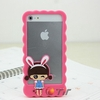 factory price silicone case for iphone 5,wholesale animal silicone phone case for iphone