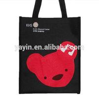 Customized recyclable logo print non woven polypropylene tote bag