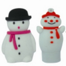 good looking cartoon lovely snow man usb flash drives