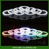 Hot Sale flashing led slap bracelet,voice control bracelet,glow in the dark bracelet