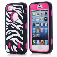 Combo phone covers mix color soft silicone+PC combo 3in1 hybrid cover for iPhone 5