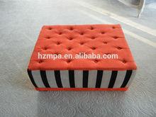 Big shape upholstery nice velvet fabric living room furniture design fabric ottoman