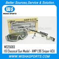 Plus récent 2014! Offre spéciale pour 1:6 classique en métal gun jouets modèle de série- awp sniper l96 jouet. fusils pistolet d'acu dans