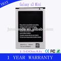 1500 mAh 3.7 V Li ion de la batería del teléfono para Samsung Galaxy S3 i8190 mini i527 holder de la batería