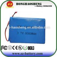 3595105 3.7v lipo battery 8000mah in parallel