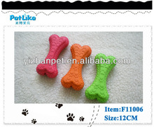 China wholesale dog toy rubber bones with squeaker