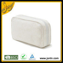simple satin travel cosmetic bag with high quality