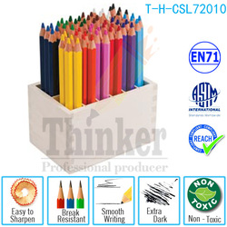 72 pcs Cool Colored Pencil Class Pack