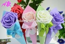 2014Teda Korean creative joyful box Roses sweet box Creative roses The roses small cone candy box