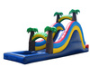 giant slide,inflatable water slide with pool A4005