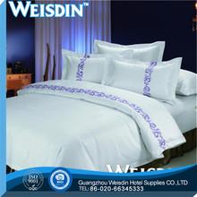 jacquard wholesale fabric 100% cotton applique work bed sheet