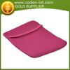 2014 Wholesale Simple Girls Pink Waterproof Neoprene Laptop case without Zipper