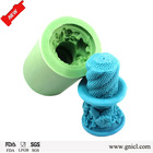 China novelty candle design eco-friendly unique shaped siliocne candle molds