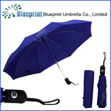 For Sex ladies usage Auto open& close three section folding umbrella