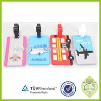 airplane polit wing pvc luggage tag ,plastic travel bag tags