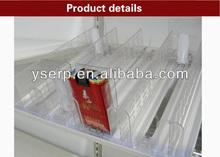 Pantalla ajustable empujador/cigarrillo empujadores/empujador plataforma del sistema
