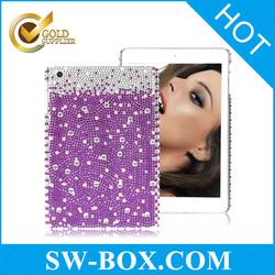 Elegant rhinestone case for iPad mini, for iPad mini hard case