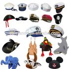 Unisex Adult Captain Hat Navy Cap White Gold Black Captains Ship Sailor and Animal hat QHAT-2001