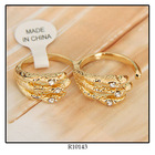 Graceful Wing Two Finger Light Weight Ladies Gold Ring Models