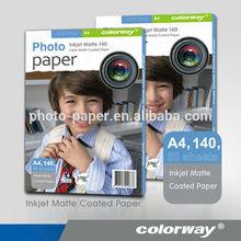 Manufacturer Supply Cheap A4/Letter Size 108g Matte Inkjet Photo Paper