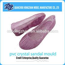 2014 popular pvc crystal sandal mould for girls