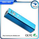 portable battery charger sinca slim power bank external battery 2200mah