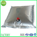 Folha de alumínio saco do vinho, suco, de água, saco de óleo na caixa com toque de válvula