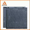 artificial black flat china interlocked roof tile