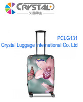 Luggage PC Trolley luggage Suitcase 2014 100% Pure PC + ABS 16,18,20,24,28 Fashion Design Crystal Luggage Factory direct sale