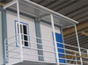 hard flat packed steel sea container house with heat insulation