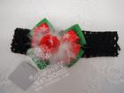 Christmas Baby Flower Crochet Elastic Headband