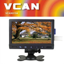 Hot sale 7 inch wholesale lcd monitor stand with FM 2 video input SD USB