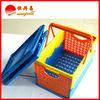 Folding colorful light weight storage plastic basket making