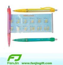 promotional plastic calendar pull out pen