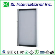 PVC frame insulated automatic glass sliding door with showcase